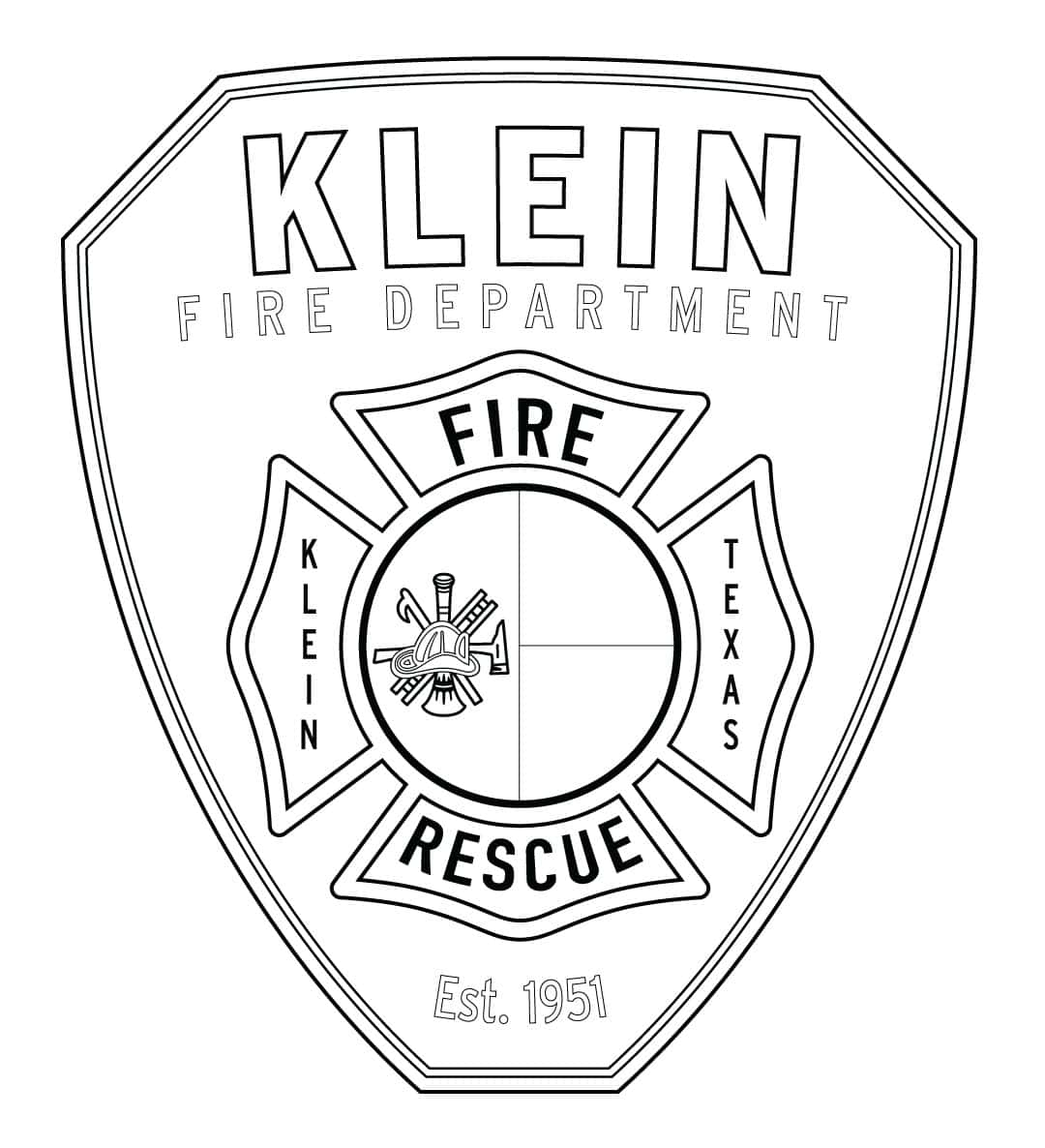 Klein Fire Dept Logo Coloring Page