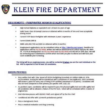 Hiring Alert: Part-Time Firefighter